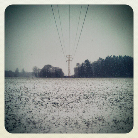 pylon in snow